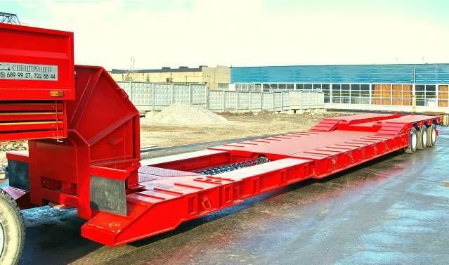 низкорамная платформа раздвижная 70 тонн