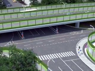 Строительство эстакады в Балашихе на Горьковском шоссе.