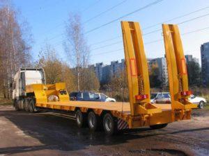 Низкорамная платформа 30 тонн в аренду