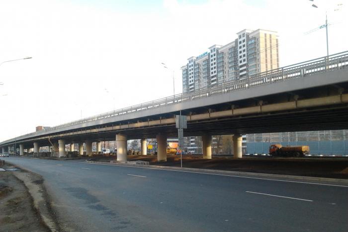 Эстакада в Балашихе на Горьковском шоссе.