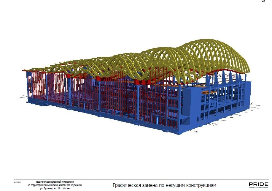 Строительство Центра художественной гимнастики на территории спортивного комплекса «Лужники»
